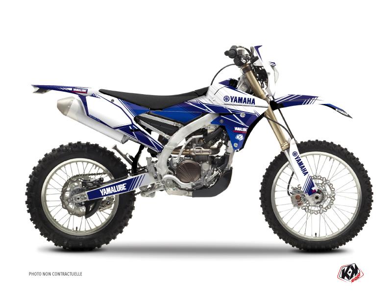Yamaha 250 WRF Dirt Bike Stripe Graphic Kit Night Blue