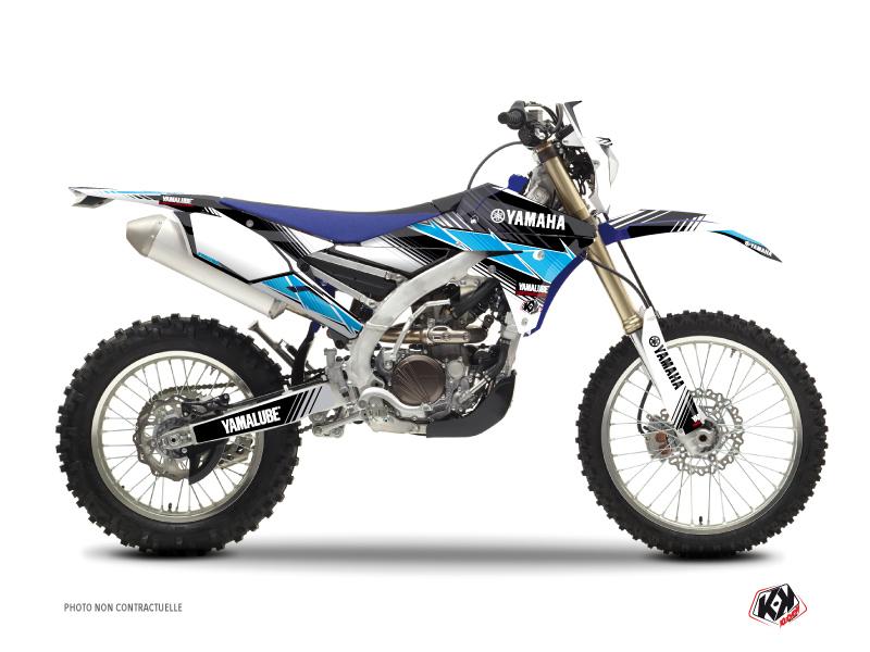 Yamaha 250 WRF Dirt Bike Stripe Graphic Kit Black