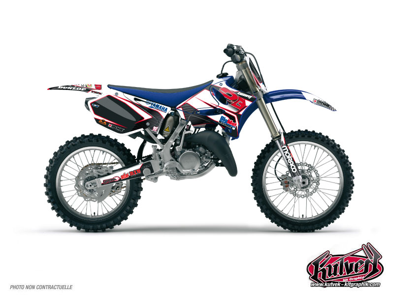 Yamaha 125 YZ Dirt Bike Replica Team 2b Graphic Kit 2010