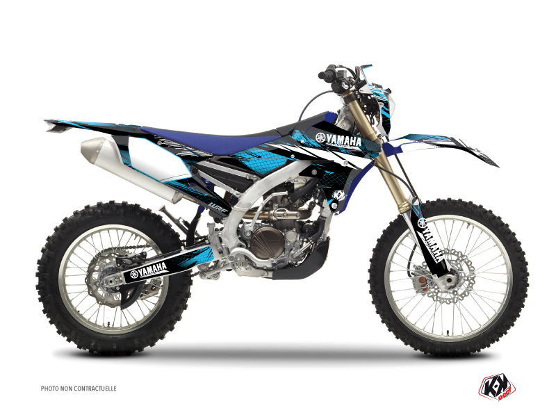 Yamaha 450 WRF Dirt Bike Techno Graphic Kit Blue