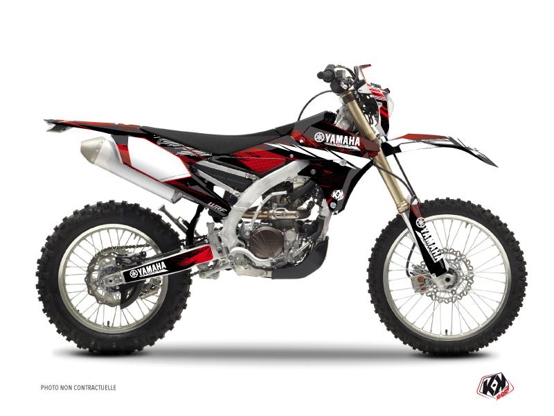 Yamaha 450 WRF Dirt Bike Techno Graphic Kit Red
