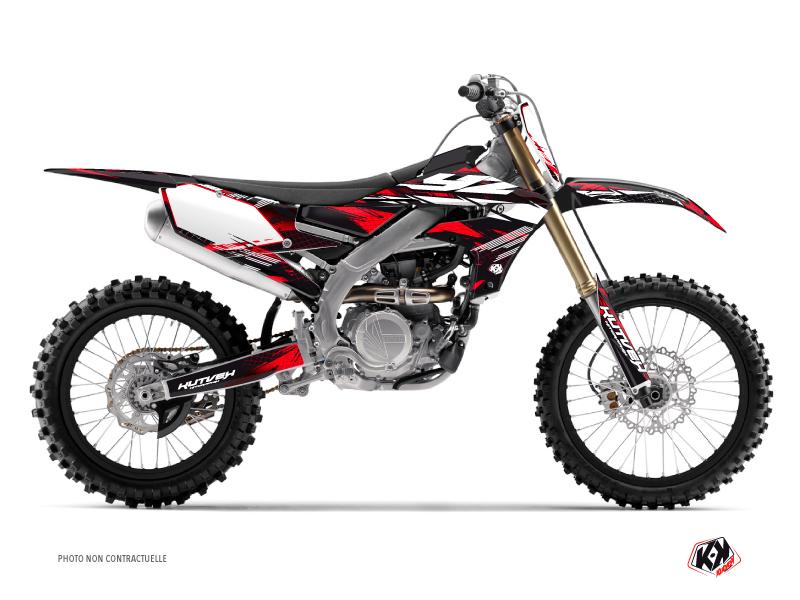 Yamaha 450 YZF Dirt Bike Techno Graphic Kit Red
