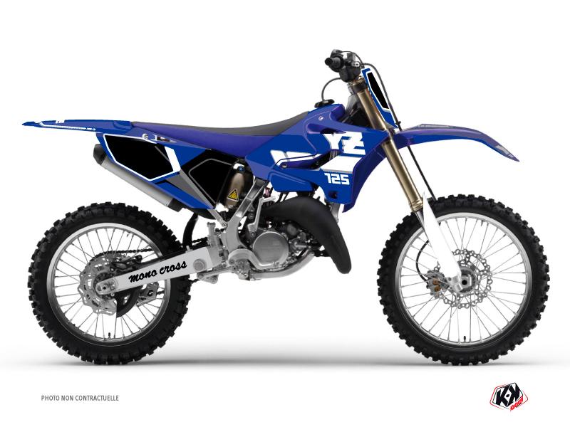 Kit Déco Moto Cross Vintage Yamaha 125 YZ Bleu