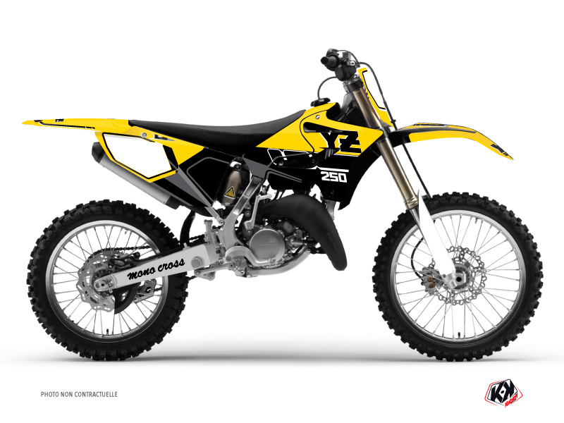 Yamaha 250 YZ Dirt Bike Vintage Graphic Kit Yellow