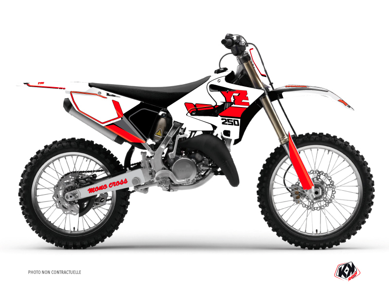 Yamaha 250 YZ Dirt Bike Vintage Graphic Kit Red