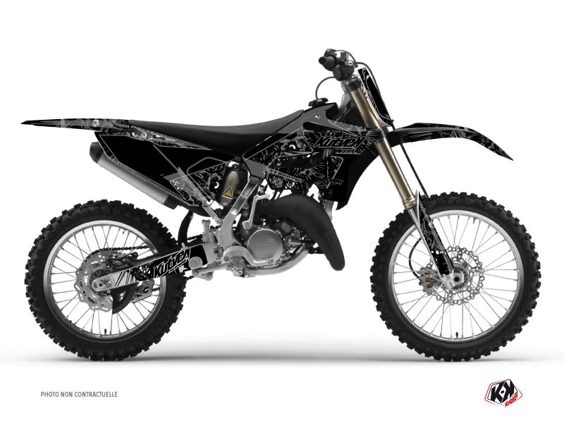 Yamaha 250 YZ Dirt Bike Zombies Dark Graphic Kit Black