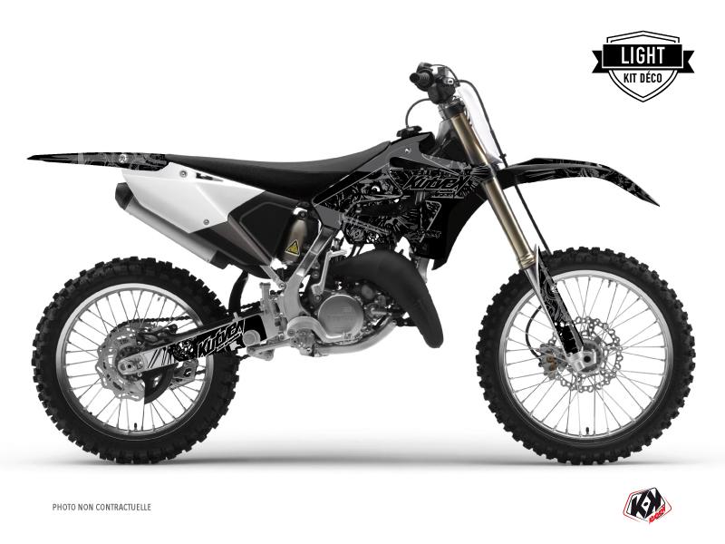 Yamaha 125 YZ Dirt Bike Zombies Dark Graphic Kit Black LIGHT