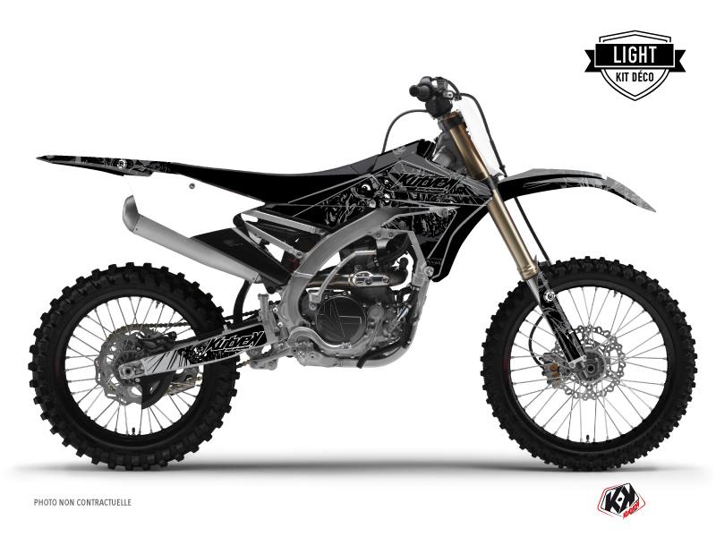 Yamaha 250 YZF Dirt Bike Zombies Dark Graphic Kit Black LIGHT