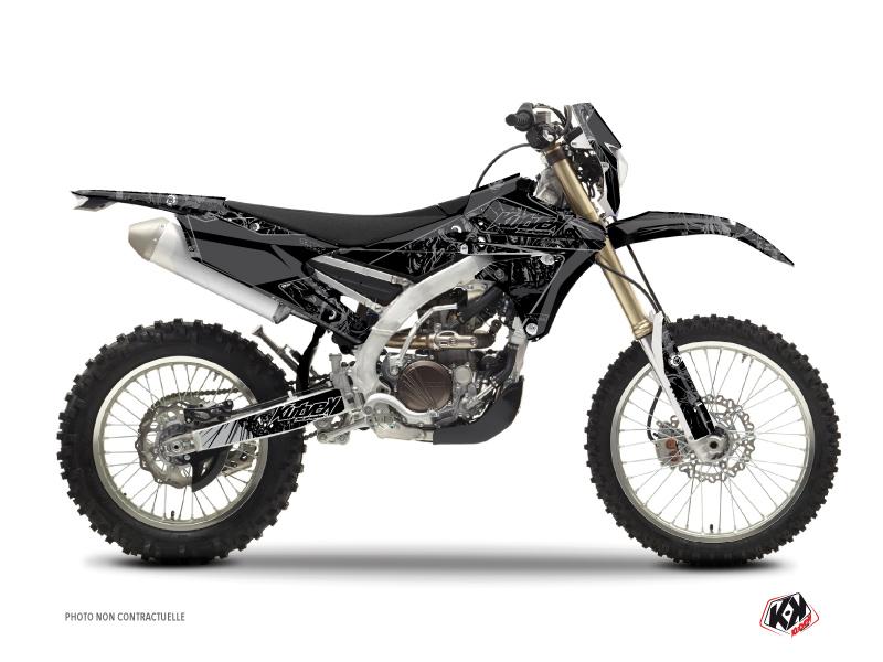 Yamaha 450 WRF Dirt Bike Zombies Dark Graphic Kit Black