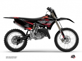 Yamaha 125 YZ Dirt Bike Outline Graphic Kit Red