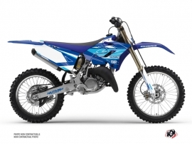 Yamaha 250 YZ Dirt Bike Outline Graphic Kit Blue