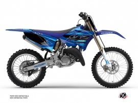 Yamaha 250 YZ Dirt Bike Outline Graphic Kit Cyan