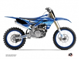 Yamaha 250 YZF Dirt Bike Outline Graphic Kit Blue