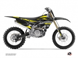 Yamaha 250 YZF Dirt Bike Outline Graphic Kit Yellow