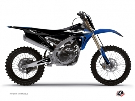 PACK Yamaha 250 YZF Dirt Bike Halftone Graphic Kit Black Blue + Plastics Kit 250 YZF Black from 2014