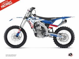Kit Déco Moto Cross Patriot Kawasaki 250 KXF Bleu