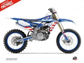 Yamaha 250 YZF Dirt Bike Patriot Graphic Kit Blue