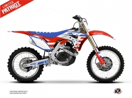 Kit Déco Moto Cross Patriot Honda 450 CRF Bleu