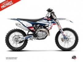 KTM 250 SX Dirt Bike Patriot Graphic Kit Blue