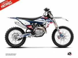 KTM 250 SXF Dirt Bike Patriot Graphic Kit Blue