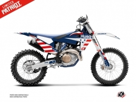 Husqvarna TC 125 Dirt Bike Patriot Graphic Kit Blue