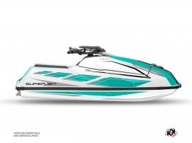 Yamaha Superjet 2021 Jet-Ski PERF Graphic Kit Turquoise