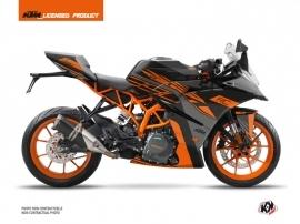 KTM 390 RC Street Bike Perform Graphic Kit Black Orange