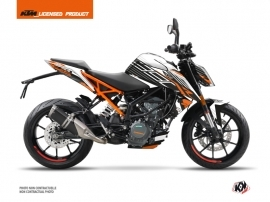 Kit Déco Moto Perform KTM Duke 390 Noir Blanc