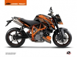 KTM Super Duke 990 Street Bike Perform Graphic Kit Black Orange