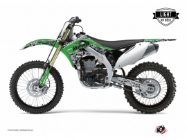 Kawasaki 125 KX Dirt Bike Predator Graphic Kit Green LIGHT