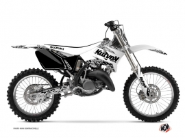 Suzuki 125 RM Dirt Bike Predator Graphic Kit White