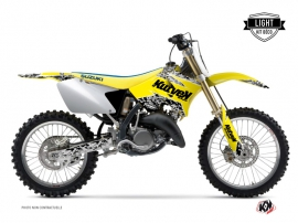 Suzuki 125 RM Dirt Bike Predator Graphic Kit Yellow LIGHT