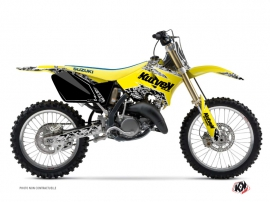 Suzuki 125 RM Dirt Bike Predator Graphic Kit Yellow