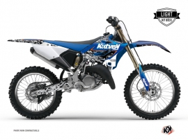 Yamaha 250 YZ Dirt Bike Predator Graphic Kit Black Blue LIGHT