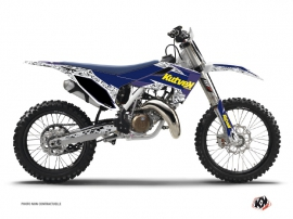 Husqvarna TC 125 Dirt Bike Predator Graphic Kit Purple Yellow