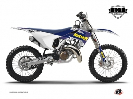 Husqvarna TC 125 Dirt Bike Predator Graphic Kit Purple Yellow LIGHT