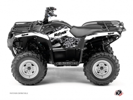 Yamaha 125 Grizzly ATV Predator Graphic Kit White