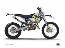 Husqvarna 250 TE Dirt Bike Predator Graphic Kit Purple Yellow