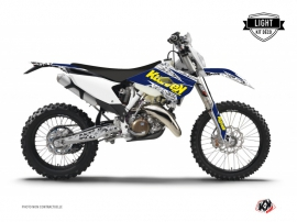 Husqvarna 250 TE Dirt Bike Predator Graphic Kit Purple Yellow LIGHT