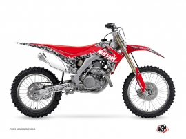 Kit Déco Moto Cross Predator Honda 250 CRF Noir Rouge
