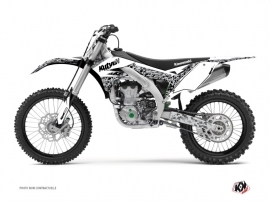 Kawasaki 250 KX Dirt Bike Predator Graphic Kit White