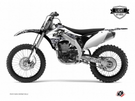 Kawasaki 250 KXF Dirt Bike Predator Graphic Kit White LIGHT
