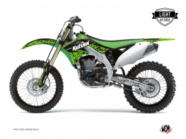 Kawasaki 250 KXF Dirt Bike Predator Graphic Kit Black Green LIGHT