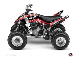 Yamaha 250 Raptor ATV Predator Graphic Kit Red