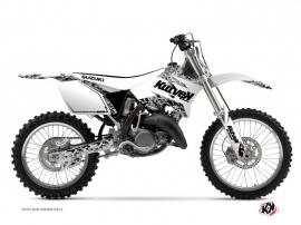 Suzuki 250 RM Dirt Bike Predator Graphic Kit White