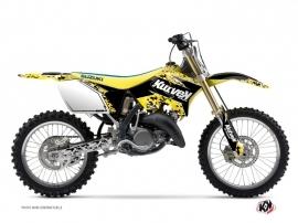 Suzuki 250 RM Dirt Bike Predator Graphic Kit Black Yellow