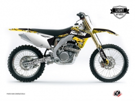 Suzuki 250 RMZ Dirt Bike Predator Graphic Kit Black Yellow LIGHT
