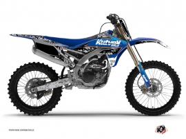 Kit Déco Moto Cross Predator Yamaha 250 YZF Noir Bleu