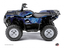 Yamaha 350 Grizzly ATV Predator Graphic Kit Blue