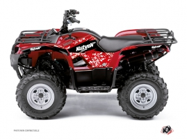 Yamaha 350 Grizzly ATV Predator Graphic Kit Red
